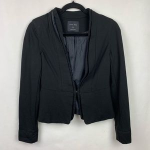 Love Tree Blazer Jacket Black Cropped Size Small